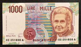 1000 LIRE Maria Montessori SERIE Sostitutiv Xe.....a FDS  LOTTO 550 - 1.000 Lire