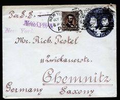 A5316) US Dekorativer Columbusumschlag Mit Zusfr. 1894 N. Germany - 1847-99 Unionsausgaben