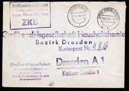 A5317) ZKD DDR Brief Eibau 18.4.64 Per Kurier N. Dresden - DDR