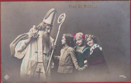Fantaisie Fête Voeux Vive St Nicolas Sinterklaas Sint Niklaas Saint Enfant  KINDEREN CHILD - Saint-Nicolas