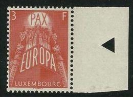 1957 Lussemburgo Luxembourg EUROPA CEPT EUROPE 3 Fr. MNH** Con Bordo - Europa-CEPT