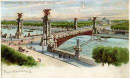 PARIS - EXPOSITION UNIVERSELLE 1900 - Pont Alexandre III - Système Optique Lumineux Breveté KAHN & ZABERN - Mostre