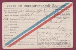 300318 GUERRE 14/18 - FM MILITARIA 1914 LE HAILLAN GIRONDE  123e Régiment INFANTERIE - Marcophilie (Lettres)