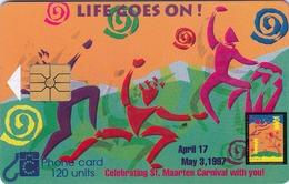 ANTILLES St.MAARTEN - Celebration Carnival , 120 U, 1997, Used - Antilles (Netherlands)