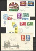 1958 1969  Europa CEPT EUROPE 4 FDC: Belgio CECA '61, Italia '61, Italia '69, Olanda '58 - Europa-CEPT