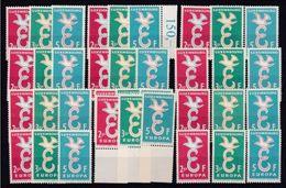 1958 Lussemburgo Luxembourg EUROPA CEPT EUROPE 12 Serie Di 3v. MNH** - Europa-CEPT