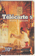MOROCCO - Man Serving Tea, Calendar 2004, Maroc Telecom 10 Dh, Chip Axalto, Used - Morocco