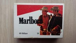 Zündholzschachtel Mit MARLBORO Werbung (Deutschland) - Zündholzschachteln