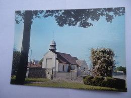 CPSM BROU SUR CHANTEREINE - SEINE-ET-MARNE - EGLISE SAINTE BAUDILE - Other Municipalities