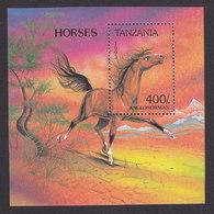 Tanzania, Scott #1159, Mint Never Hinged, Horse, Issued 1993 - Tanzania (1964-...)