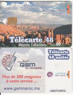 MOROCCO - City View, Sur La Route Des Kasbahs(reverse GSM), Maroc Telecom 60 Dh, Chip Siemens 35, Used - Morocco