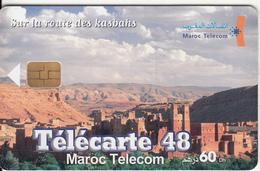 MOROCCO - City View, Sur La Route Des Kasbahs, Maroc Telecom 60 Dh, Chip ORGA 37, Used - Morocco