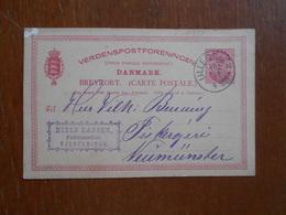 Entier Postal Envoyé Du Danemark  Denmark 1889. - Danemark