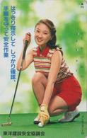 Télécarte Japon / 110-011 - SPORT - GOLF FEMME - GIRL Woman Japan Phonecard - 3620 - Kino