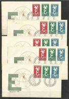 1958 Lussemburgo Luxembourg EUROPA CEPT EUROPE 5 Serie Di 3v. Su 5 FDC - Europa-CEPT