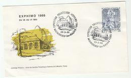 1966 LUXEMBOURG EXPHIMO EVENT COVER Mondorf Les Bains  PHILATELIC EXHIBITION, Stamps Religion - Lussemburgo