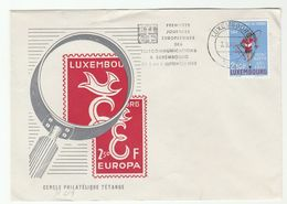 1962 LUXEMBOURG CEPT EUROPA EVENT COVER Stamps WORLD CYCLE RACE Cycling Sport Bike Bicycle Telecom Sport - Covers & Documents