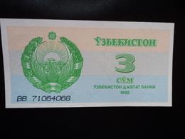 OUZBÉKISTAN : 3 SOM   1992  P 62a    NEUF - Ouzbékistan