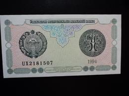 OUZBÉKISTAN : 1 SOM   1994  P 73     NEUF - Ouzbékistan