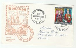 1970 LUXEMBOURG  RODANGE CERCLE PHILATELIQUE 25th Anniv EVENT COVER ARCHBISHOPRIC Stamps Philately Religion - Covers & Documents
