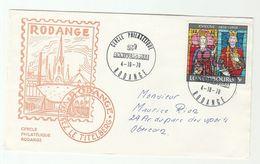 1970 LUXEMBOURG  RODANGE CERCLE PHILATELIQUE 25th Anniv EVENT COVER ARCHBISHOPRIC Stamps Philately Religion - Briefe U. Dokumente
