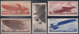 Russia 1934, Michel Nr 483-87, MH OG - 1923-1991 USSR