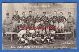 CPA Photo - GRENOBLE - Equipe De RUGBY Du 4e Régiment De Génie - 7 Janvier 1926 - Photographe P. Gaude - Militaria
