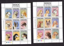 Tanzania, Scott #1175-1178, Mint Never Hinged, Dogs, Issued 1994 - Tanzania (1964-...)