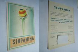 SIMPAMINA RECORDATI - CARTOLINA PUBBLICITARIA ILLUSTRATA DEL 1952 - FARMACEUTICA - Publicidad