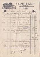1914: Facture De ## Imprimerie J. DEFOSSÉ-DURIAU, CHAPELLE-lez-HERLAIMONT ## Au ## Notaire HARDY à FONTAINE-l'ÉVÊQUE ## - Imprimerie & Papeterie