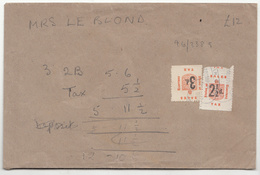 Guernsey WW11 Revenue Sales Stamps On Envelope (Gruts Store) - Guernsey
