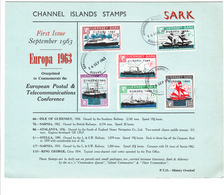 Guernsey SARK Commodore Europa 1963 Set On Collectors Card - Guernsey
