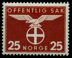 NORWEGEN DIENST Nr 49 Postfrisch X915EFE - Dienstmarken