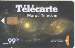 MOROCCO - Interaction Des Galaxies, Maroc Telecom 99 Dh, Chip Axalto, 01/04, Used - Morocco