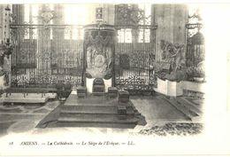CPA N°21066 - LOT DE 5 CARTES D' AMIENS - SIEGE DE L' EVEQUE + AUTEL ST JOSEPH + CHAPELLE ST SEBASTIEN + ARCS BOUTANTS - Amiens