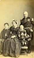 France Paris Militaire Officier En Famille Ancienne CDV Photo SPP 1870 - Photographs