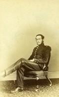 France Militaire Officier Assis Ancienne CDV Photo Anonyme 1870 - Photographs