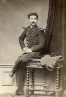 France Militaire Officier Martial Delaporte Ancienne Photo Anonyme 1870 - Photos