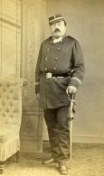 France Paris Militaire Soldat Epee Ancienne CDV Photo Bureau 1870 - Photographs