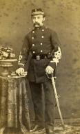 France Lille Militaire Soldat Moustache Sabre Ancienne CDV Photo Willem 1870 - Photographs