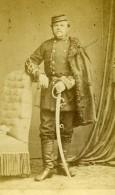 France Lille Militaire Officier Sabre Ancienne CDV Photo Leblondel 1870 - Photos