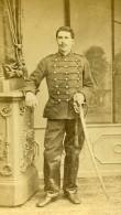 France Lille Militaire Soldat Sabre Ancienne CDV Photo Lyon 1870 - Photographs