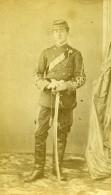 France Militaire Soldat Sabre Ancienne CDV Photo Anonyme 1870 - Photographs