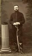 France Chalons Militaire Soldat Sabre Ancienne CDV Photo Michel 1900 - Photographs