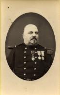 France Lille Militaire Commandant Bertrand Medailles Dedicace Ancienne CDV Photo Lenfant 1881 - Photographs