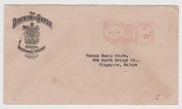 CANADA Toronto Mail To Singapore Malaya, Meter Cancel 3 Feb 1950 (C130) - Postal History