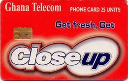 TARJETA TELEFONICA DE GHANA. CLOSEUP (012) ESQUINA MORDIDA - Ghana