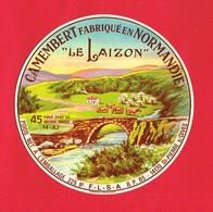 Etiquette Fromage Camembert LE LAIZON ST PIERRE SUR DIVES Calvados - Fromage