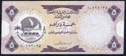 "United Arab Emirates, 5 Dirhams 1973 ""VF+""  Banknote - Emirats Arabes Unis"