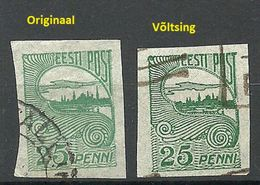 Estonia Estonie 1920 Tallinn Reval Michel 15 Original + Fälschung/Fake/Faux For Study - Estonie